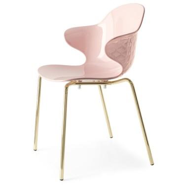 Saint Tropez stoel roze - Calligaris