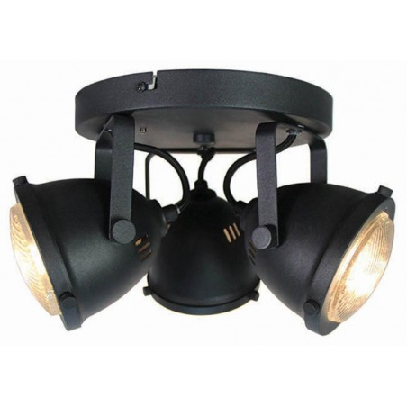 LED Spot Moto 3-Lichts Zwart - Label51