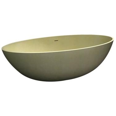 Vrijstaand ligbad 180cm Solid New Stone Zand - Abitare Design