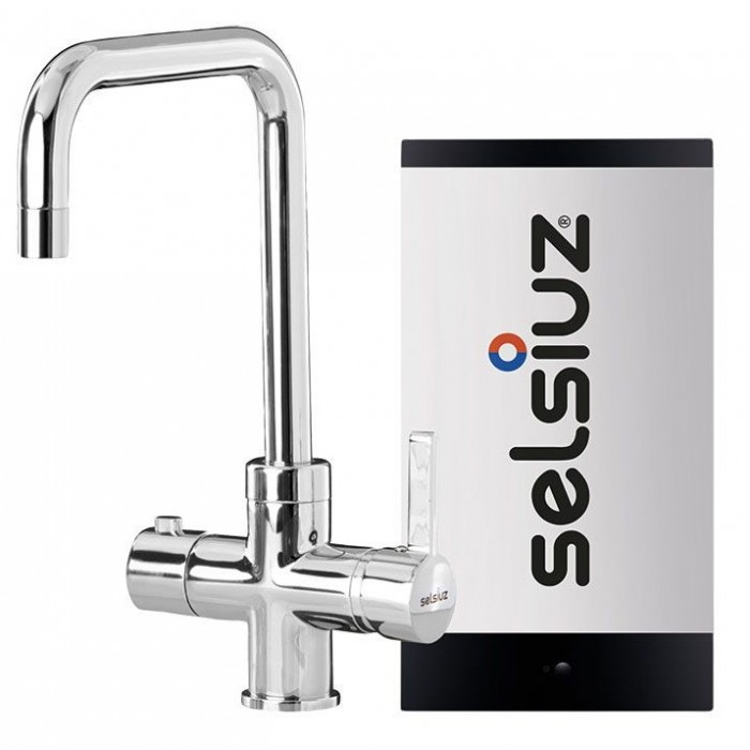 Kokendwaterkraan Haaks Chroom (single boiler)  - Selsiuz