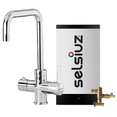 Kokendwaterkraan Haaks Chroom (combi extra boiler) - Selsiuz