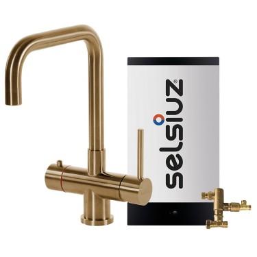 Kokendwaterkraan Haaks Goud (Combi Extra boiler)  - Selsiuz