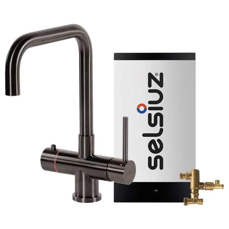 Kokendwaterkraan Haaks Gun metal (Combi Extra boiler) - Selsiuz