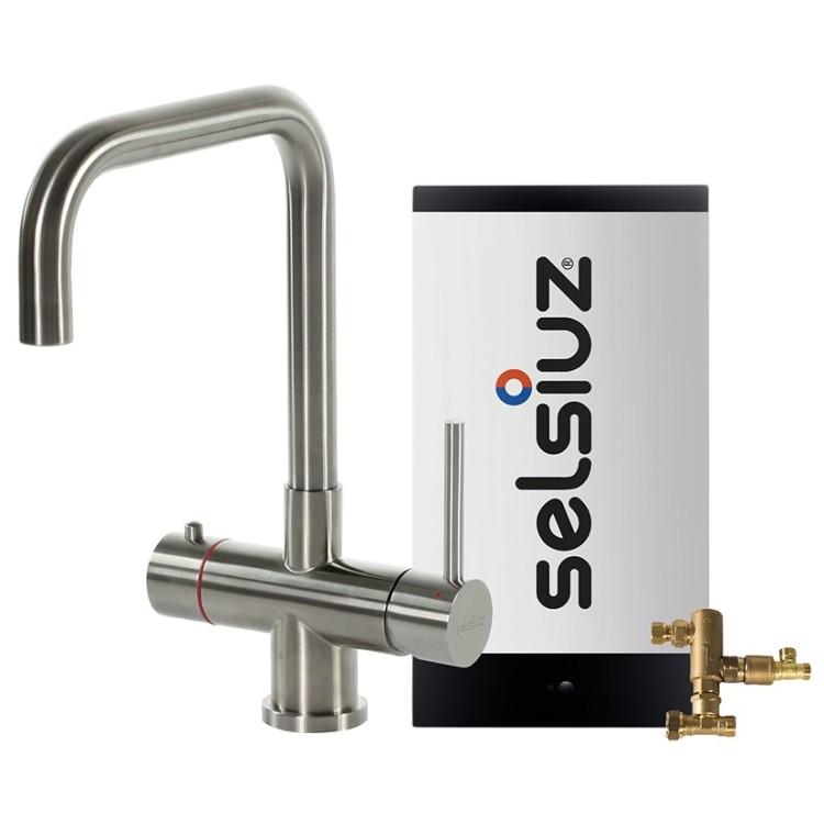 Kokendwaterkraan Haaks Inox (Combi Extra boiler) - Selsiuz