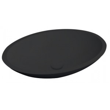 New Stone Epona opbouw waskom zwart - Abitare Design