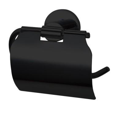 Nero toiletrolhouder zwart - Abitare Design