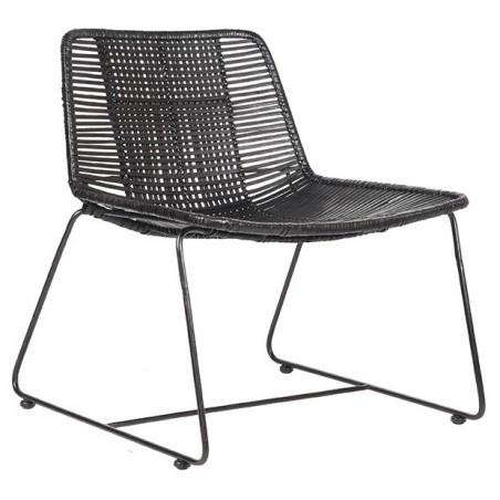 Jax fauteuil rotan zwart - Label51