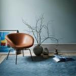 Pot lounge chair walnoot leer - Fritz Hansen
