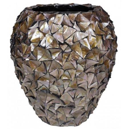 Pot Mother of Pearl schelpenpot Bruin H80 - Pot & Vaas