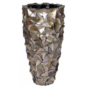 Pot Mother of Pearl Bruin H77 - Pot & Vaas