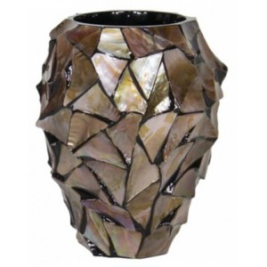 Pot Mother of Pearl Bruin H24 - Pot & Vaas