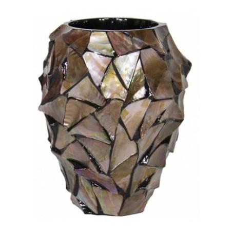 Pot Mother of Pearl schelpenpot Bruin H24 - Pot & Vaas