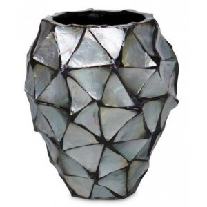 Pot Mother of Pearl Zilver H24 - Pot & Vaas