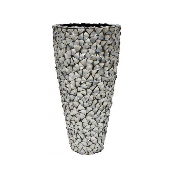 Pot Mother of Pearl Zilver H140 - Pot & Vaas