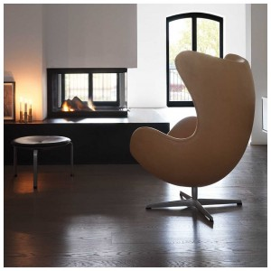 Fritz Hansen Egg Chair Prijs.Egg Chair In Rustic Leder Fritz Hansen