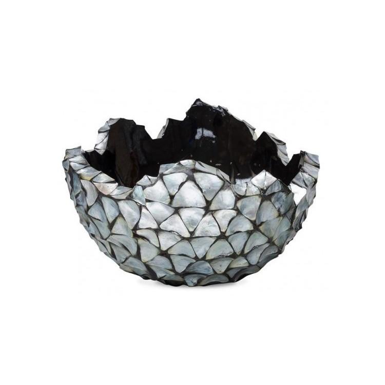 Schelpenschaal Mother of Pearl Zilver 70x70 - Pot & Vaas