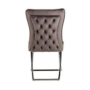Scarlett stoel stone velvet - Richmond