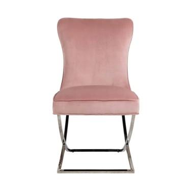 Scarlett stoel roze velvet - Richmond
