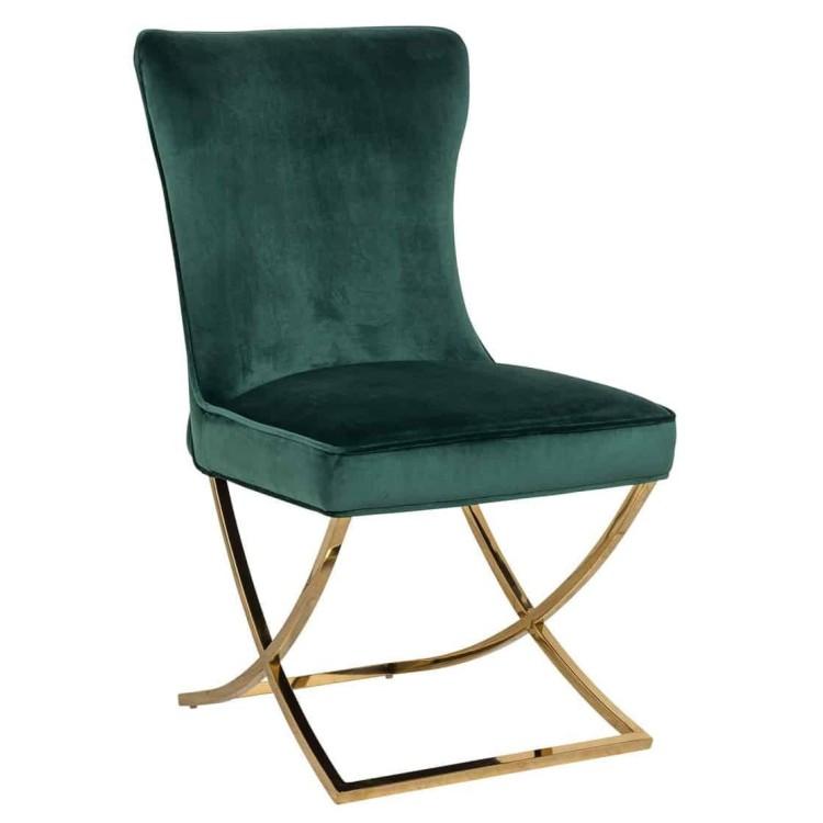 Scarlett stoel groen velvet - Richmond