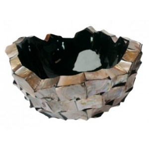 Schelpenschaal Mother of Pearl Bruin 40x40- Pot & Vaas