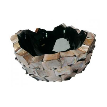 Schelpenschaal Mother of Pearl Bruin 40x40- Pot & Vaas
