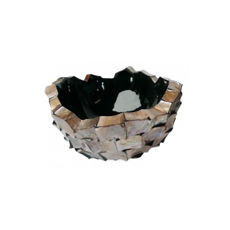 Schelpenschaal Mother of Pearl Bruin 60x60 - Pot & Vaas