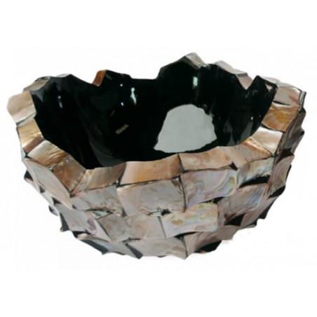 Schelpenschaal Mother of Pearl Bruin 70x70 - Pot & Vaas