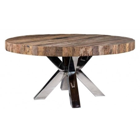Bodhi Eettafel rond 140cm chroom - Richmond