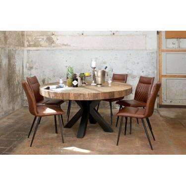 Bodhi Eettafel rond 140cm zwart - Richmond