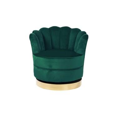Mila draai fauteuil groen velvet - Richmond