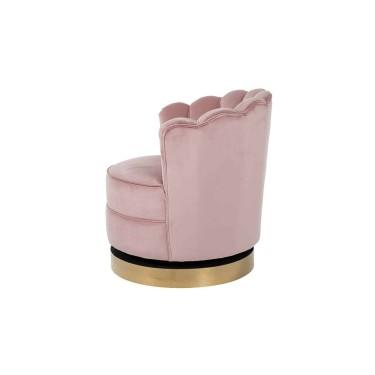 Mila draai fauteuil roze velvet - Richmond