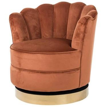 Mila draai fauteuil rust velvet - Richmond