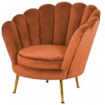 Perla fauteuil rust velvet - Richmond