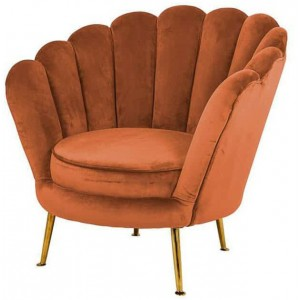 Perla fauteuil rust velvet - Richmond