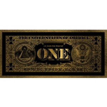 One Dollar Gold 90x200 Wall Art