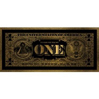 One Dollar Gold 45x100 Wall Art