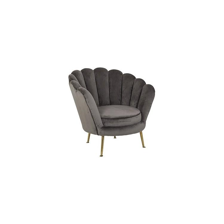 Perla fauteuil stone velvet - Richmond