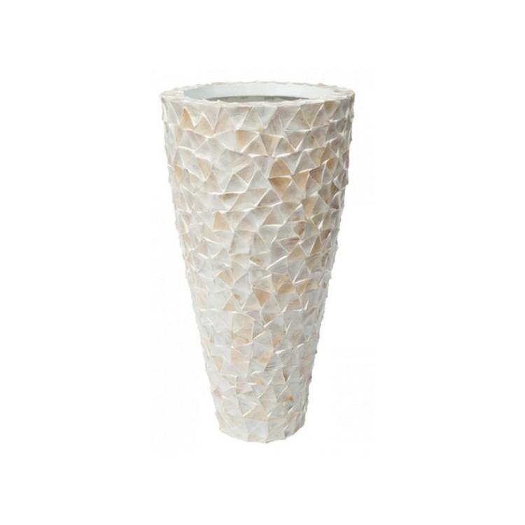 Pot Mother of Pearl schelpenpot Wit H140 - Pot & Vaas