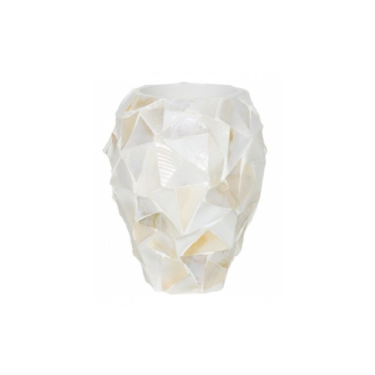 Pot Mother of Pearl schelpenpot Wit H24 - Pot & Vaas