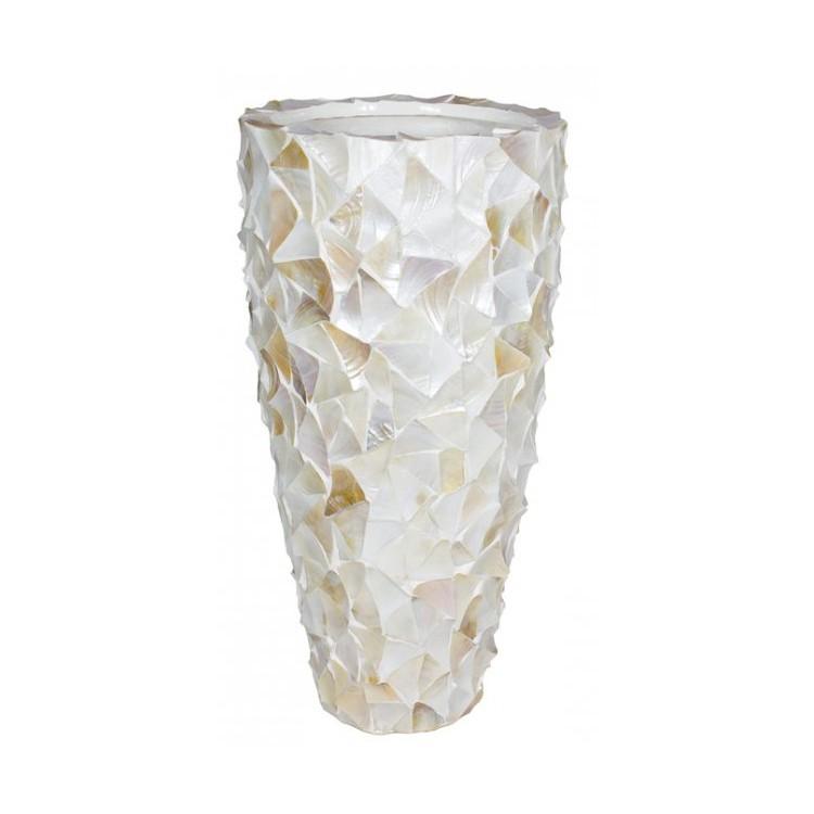 Pot Mother of Pearl schelpenpot Wit H96 - Pot & Vaas