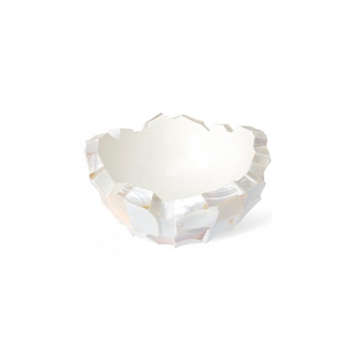 Schelpenschaal Mother of Pearl Wit 40x40- Pot & Vaas
