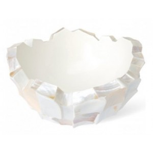 Schelpenschaal Mother of Pearl Wit 60x60 - Pot & Vaas