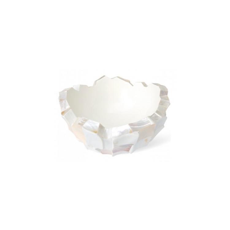 Schelpenschaal Mother of Pearl Wit 60x60 - Pot & Vaas