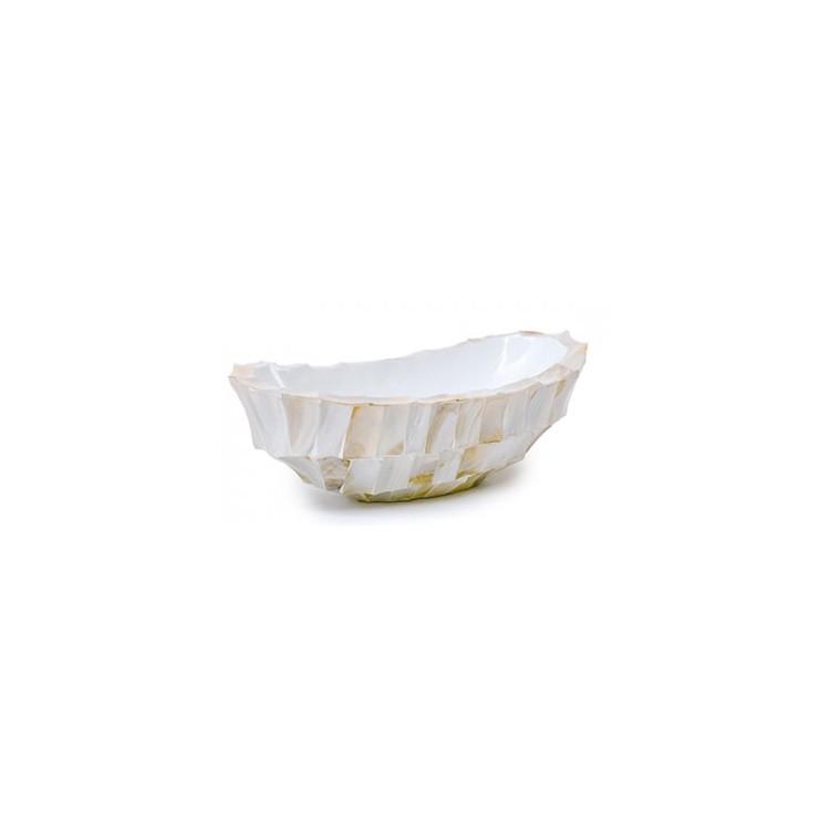 Schelpenschaal Mother of Pearl Wit H13 - Pot & Vaas