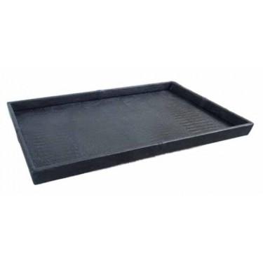 Exclusief croco leren dienblad zwart 50x80 - Pot & Vaas