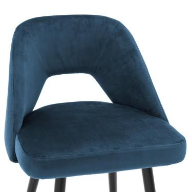 Avorio barkruk 65cm blauw - Eichholtz
