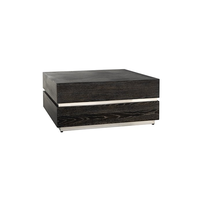 Blackbone salontafel block zilver 90x90cm - Richmond