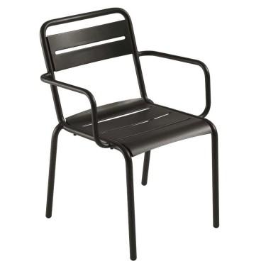 Star stoel met armleuningen - Emu