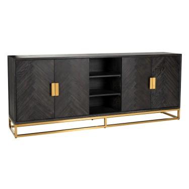 Blackbone Goud 4deurs dressoir  - Richmond