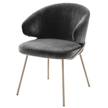 Kinley stoel donkergrijs - Eiccholtz